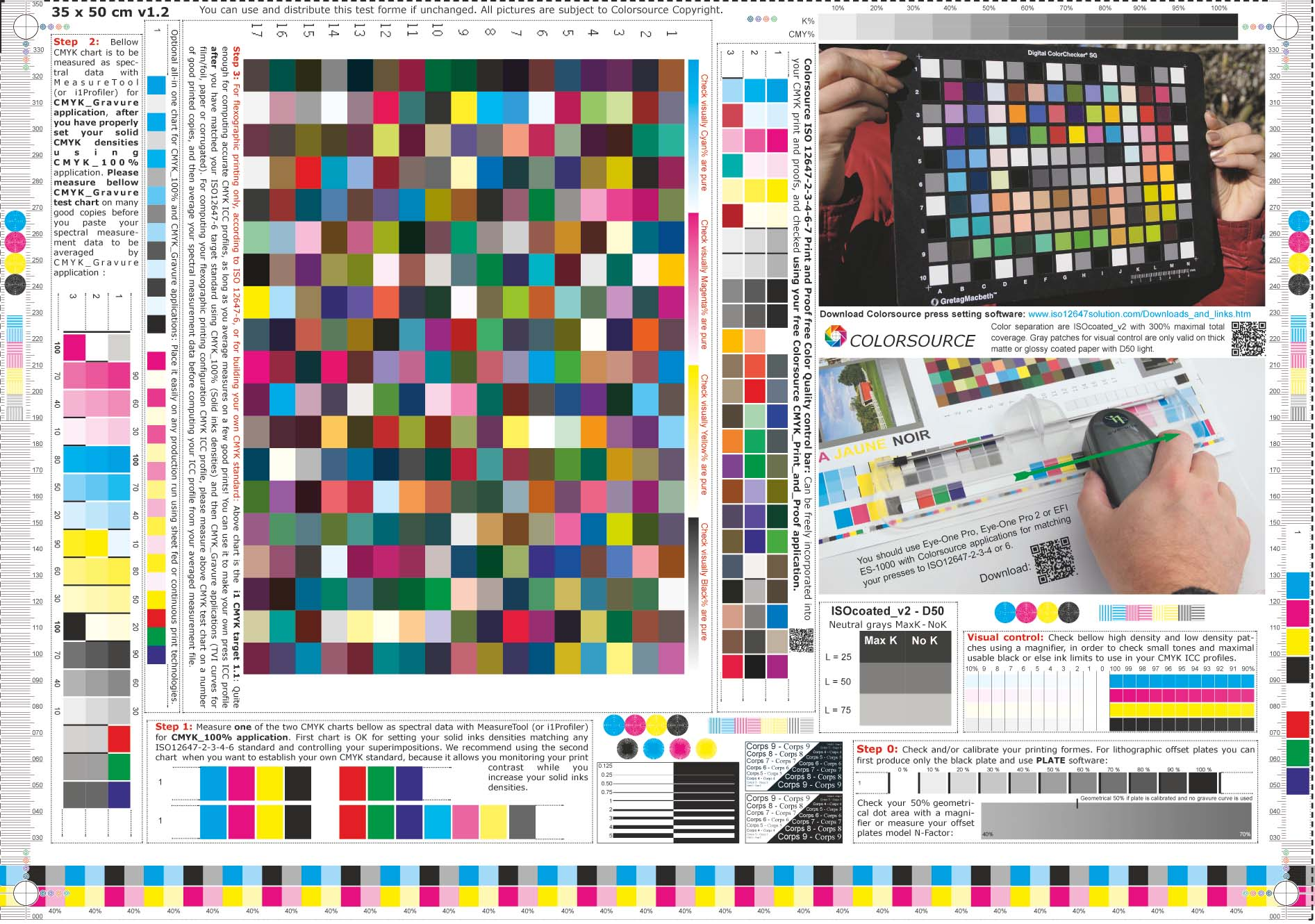 Colorsource free CMYK test print forms