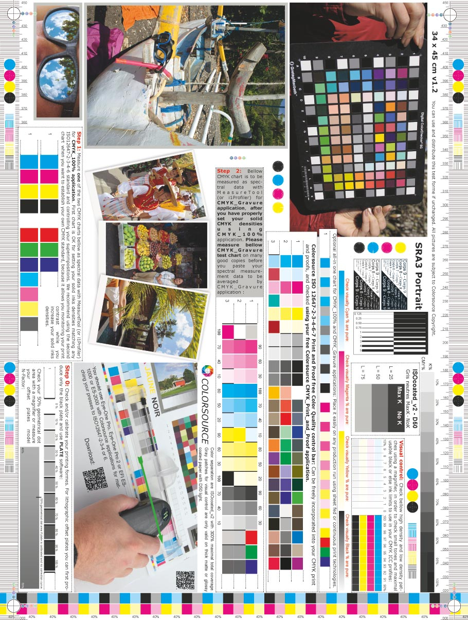 SRA3 Portrait CMYK test form 340 x 450 mm